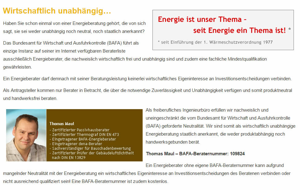 Energieberatung in 64668 Rimbach: Energiebearater-Franz-Maul.