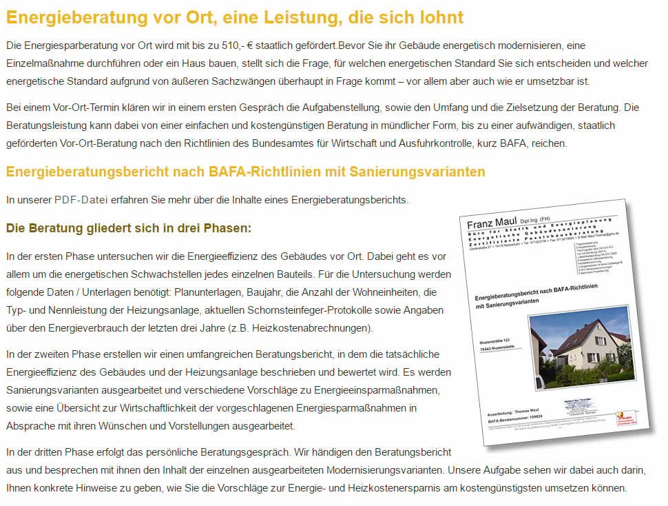 Energieberatung in  Gerlingen