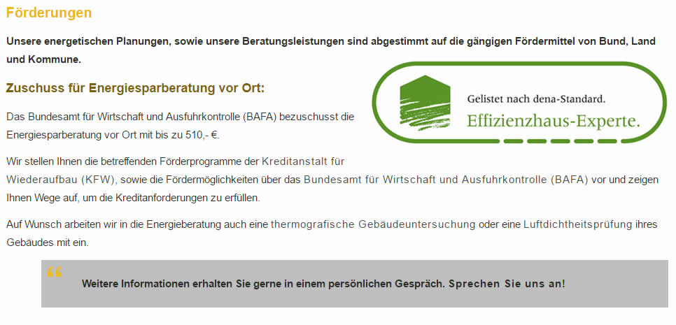 Energiesparberatung aus  Sulzfeld