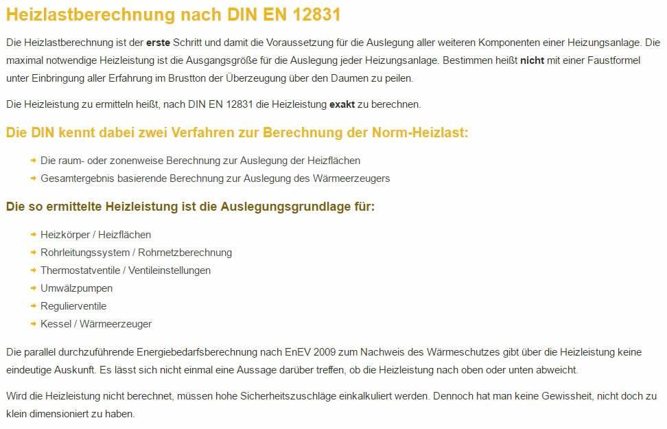 Heizlastberechnung für  Baltmannsweiler