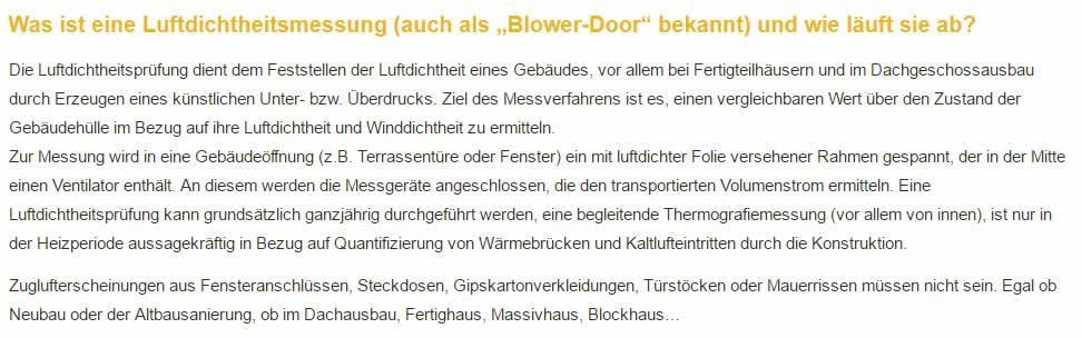 Luftdichtheitsmessungen Experte in  Beerfelden