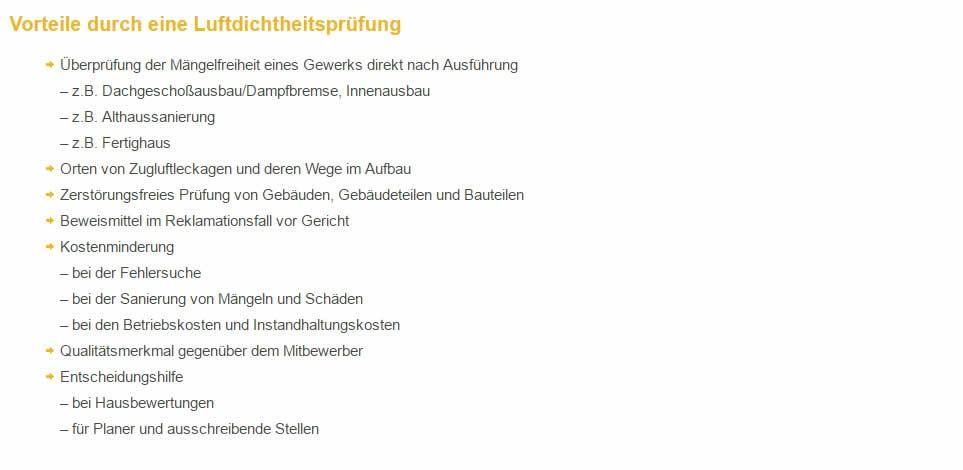 Luftdichtheitsmessung Partner aus 97956 Werbach