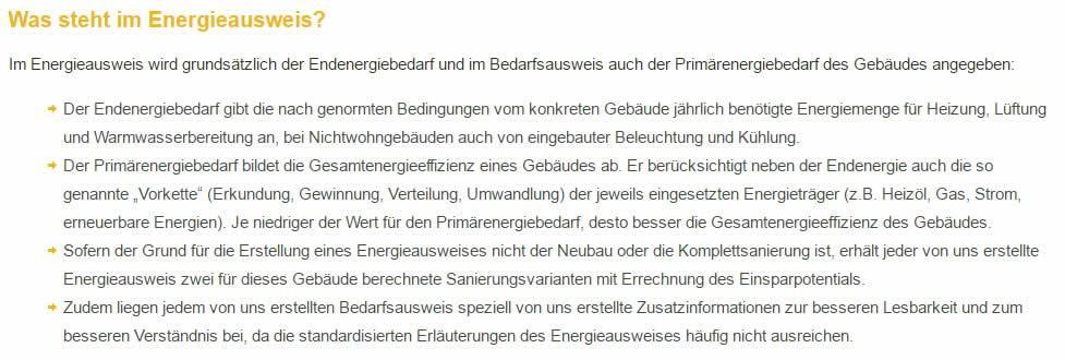 Primärenergiebedarf Energieausweis in 75239 Eisingen